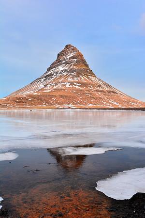 Vertical of mountain