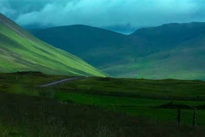 Scenic Highway 1 from Borgames to Akureyri, Iceland