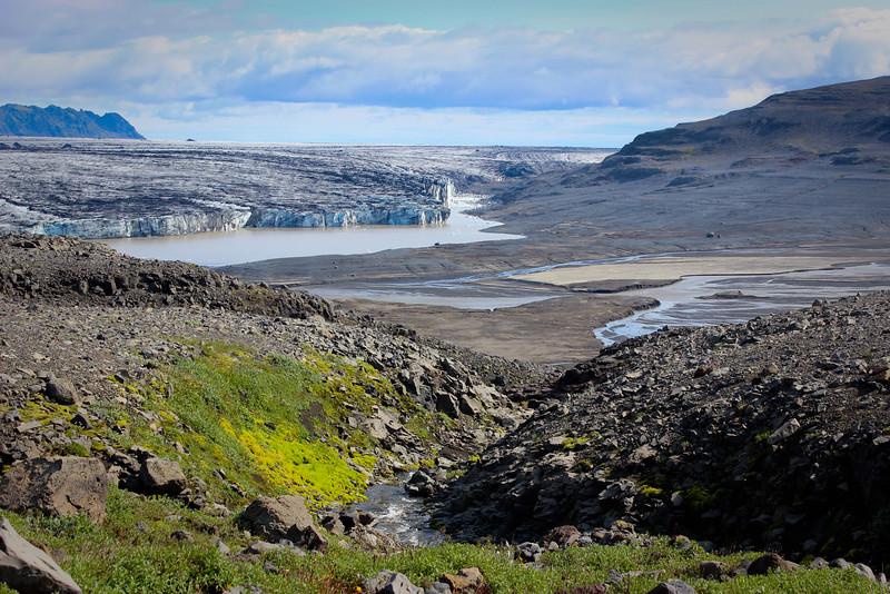 The overview towards Vatnojokull