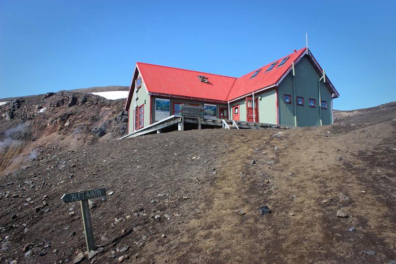 Hrafntinnusker Hut on the Laugavegur Hiking Trail