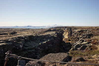 And visiting this amazing area right along the lake, part of the mid- Atlantic ridge, junction of the American and Eurasian tectonic plates. This area as been slowly separating at a rate of 3mm annually. You can almost make out a big waterfall at the far end of the visible gorge.