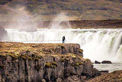 Photographer at Goðafoss, Iceland
