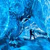 Vatnajokull Ice Cave Photographer Vertical