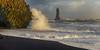 Rock formation and waves at VIK