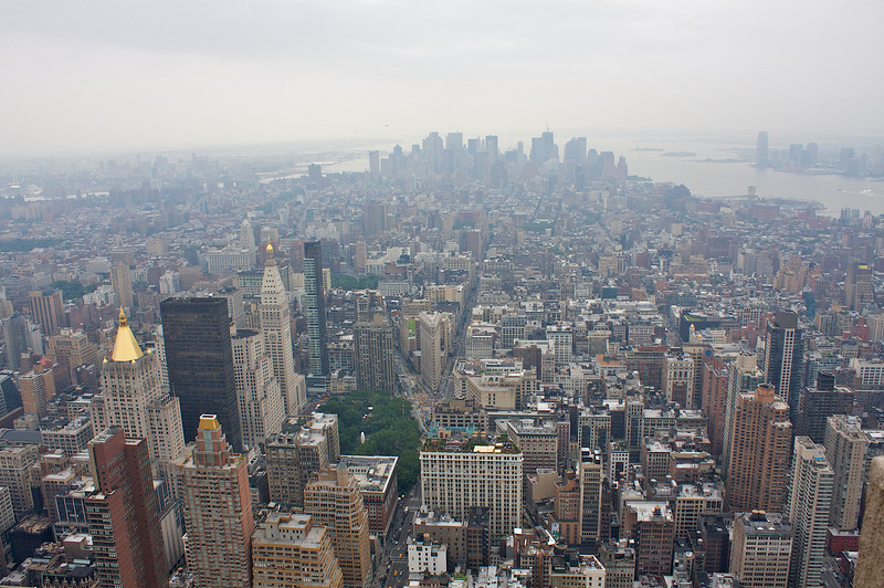 From the top of the Empire State building.