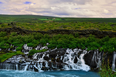 Hraunfossar, The Lava Field Waterfall