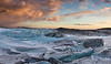 Glacier Sunset - Svinaefellsjokull, Iceland (panorama 4 vertical images) - Mark Gromko - March 2014