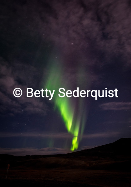 Aurora Curtain and Moonlight
