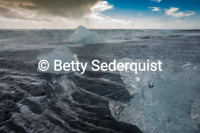 Beached Iceberg, Iceland