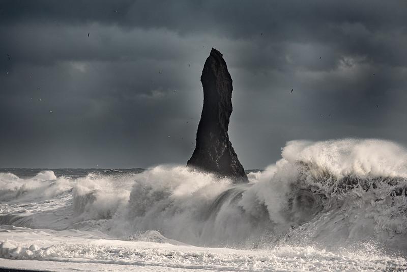 Reynisfjara sea stack