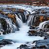 Cascading waterfalls in Thingvellir National Park, Iceland