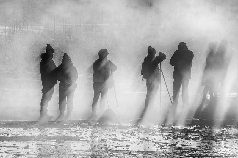Photographers at Geysir