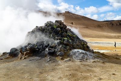 Rocky Steam Vent in Northern Iceland