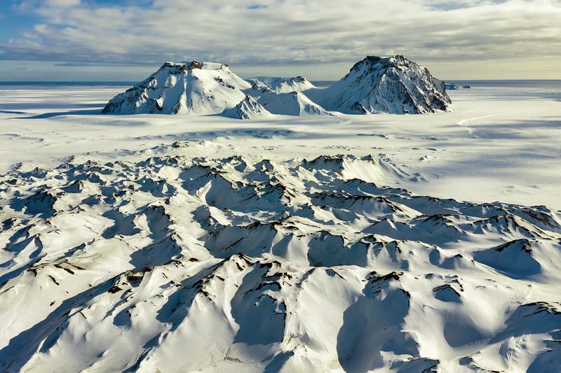 Mýrdalsjökull Glacier Aerial Landscape