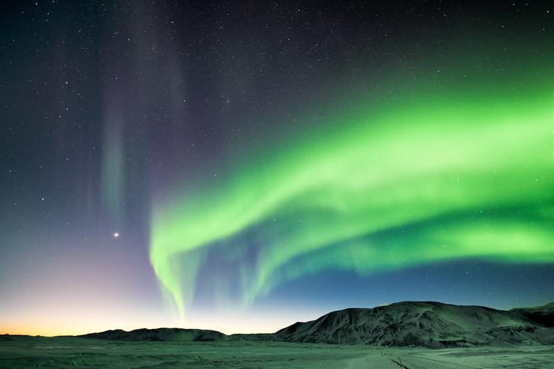 Aurora at Laugarvatn