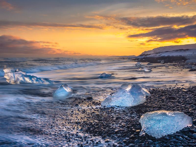 South Coast Iceland; Diamond Beach
