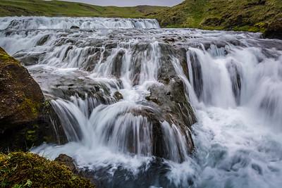 Cascades Above Skógafoss - Skógá River, Iceland