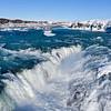 Urridafoss Chasm Waterfall and Pjorsa River