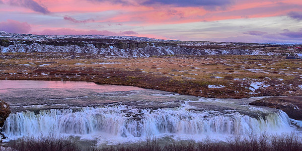 Lovely Waterfall and Sunset