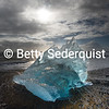 Backlit Iceberg, Icy Beach, Southern Iceland