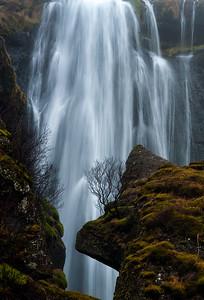Gljufrafoss Waterfall