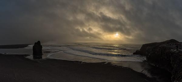 Reynisfjara Beach Panorama