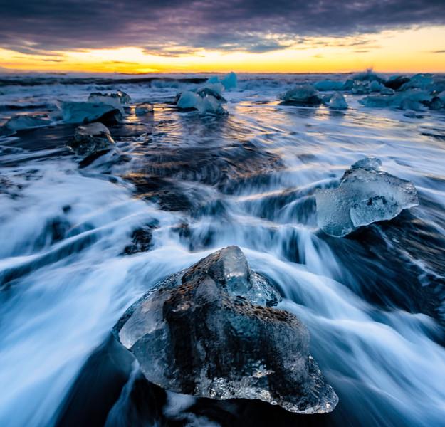 Ice Flow Sunrise