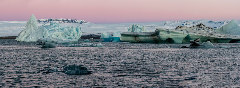Sunrise at the Glacial Lagoon