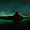 Kirkjufell Mountain Aurora Reflections