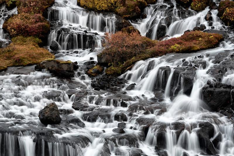 Hraunfossar Falls Fall