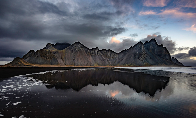 Vesturhorn Reflection, Sunrise