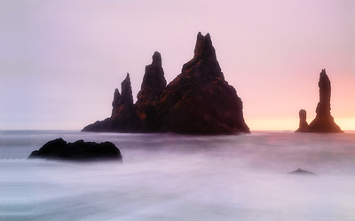 Reynisdrangar sea stacks near Vík
