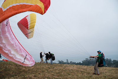 Paragliding off Elings Park