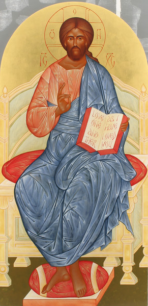 Deisis Christ enthroned