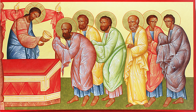 Communion of the Apostles (right wing)