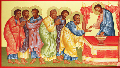 Communion of the Apostles (left wing)