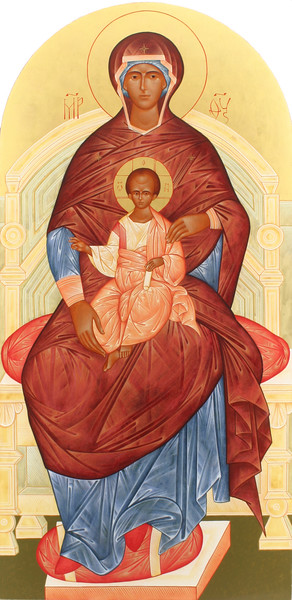 Theotokos enthroned