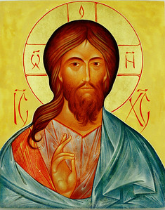 Christ Pantocrator (shoulder style)