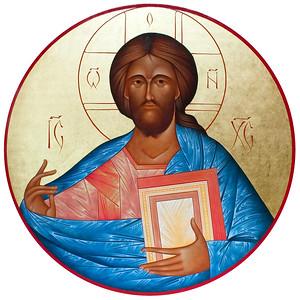 Large medallion of Christ Pantocrator