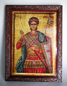 St. Demetrius 8x10 (finished)