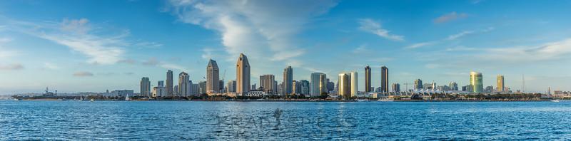 San Diego City Skyline from Coronado Island