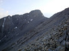 There's the summit of Borah up ahead - the last section to the summit is steep and loose in places.