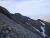 Looking back along the ridge.