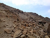 The use trail below the ridge.
