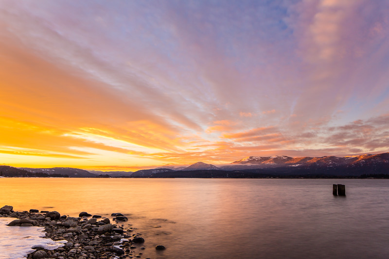 Sunset Over Pend Oreille River