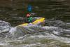 Kayaking on the Lochsa River in Idaho, USA, America.
