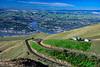 The city skyline from the Lewiston Hill overlook, Lewiston, Idaho, USA.