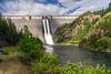 The Dworshak Dam on the Clearwater River near Orofino, Idaho, USA, America.