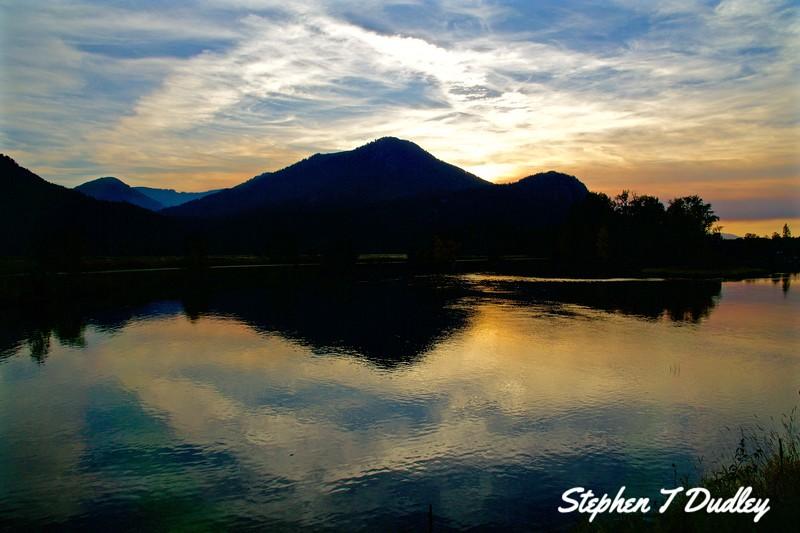 Sunset near Clark Fork