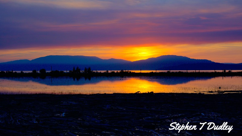 Sunset, N lake Pend Oreille